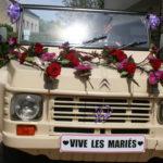 Mariage, fleuriste pour décoration de voiture, l'Atelier Floral à Romilly sur Seine, Aube, 10